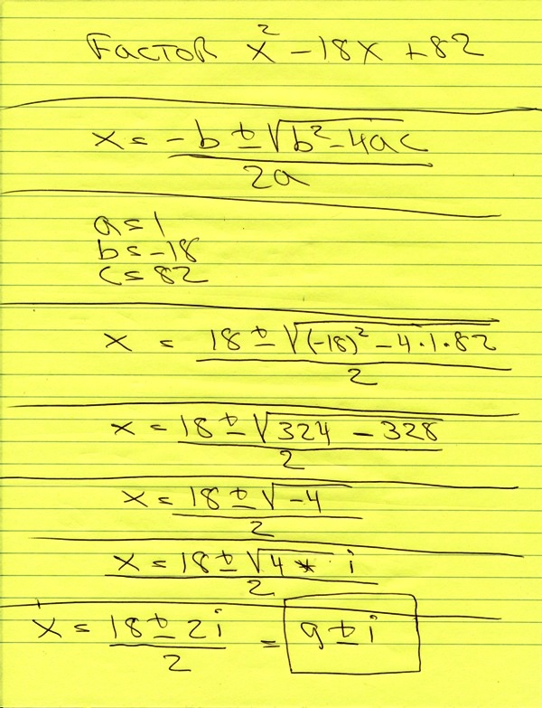 Write a quadratic equation in the variable x