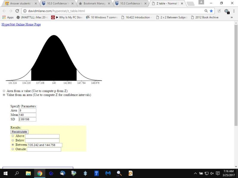how to find standard deviation given mean