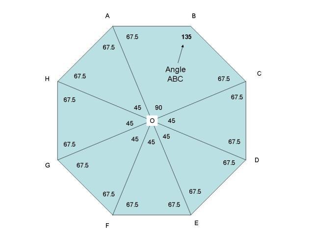 Solution Dear Sir Please Help Me Abcdefgh Is A Regular Octagon Calculate Abc Acd Abd Angles