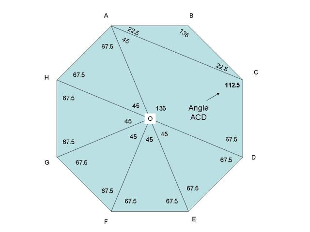 SOLUTION Dear Sir Please Help Me ABCDEFGH Is A Regular Octagon Calculate A