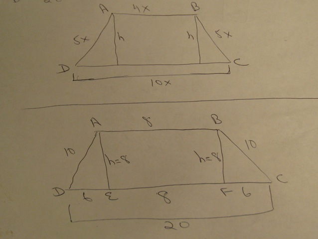 Solution please help me answer this question asap the measures question asap the measures of the consecutive sides of an isosceles trapezoid are 45105 its height is 8 and its perimeter is 48 find the area of ccuart Choice Image